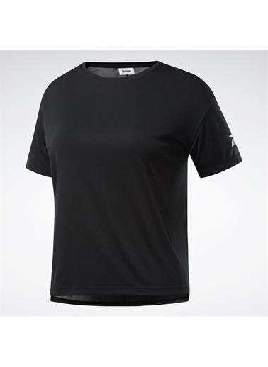 Reebok Wor Comm Poly Solid Kadın Siyah Antrenman Tişört Fq0401 Siyah